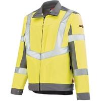 Veste de sécurité Haute visibilité jaune fluo et gris acier