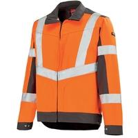 Blouson de travail Work Vision orange hivi et gris A. Lafont