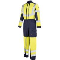 Combinaison de travail Homme jaune hivi et bleu marine optic