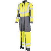 Combinaison de travail haute visibilité jaune fluo hivi et gris acier
