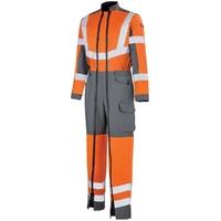 Combinaison de travail Hivi orange fluo et gris Work vision 2 Lafont