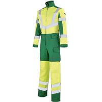 Combinaison de travail haute visibilité jaune fluo et vert