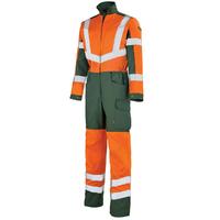 Combinaison de travail Homme orange hivi et vert fonce