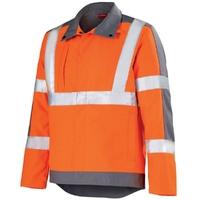 Veste de travail orange hivi et gris acier ocean