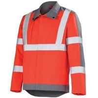 Veste de travail Haute visibilité rouge hivi et gris acier ocean