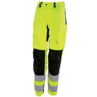 Pantalon de travail femme jaune hivi et noir tara