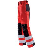 Pantalon haute visibilité femme rouge hivi et noir tara