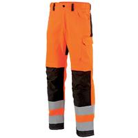Pantalon de travail homme Hivi orange fluo et noir star