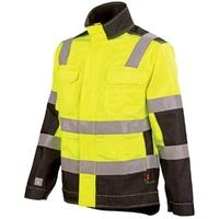 Vêtement de travail Blouson haute visibilité mixte jaune fluo noir lux