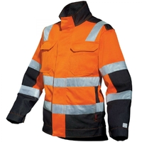 Blouson de travail Haute visibilité mixte orange fluo et noir lux A. Lafont