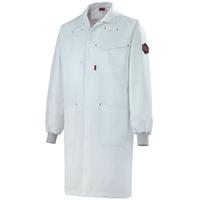 Blouse blanche de travail poignets tricot marius A. Lafont