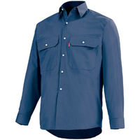 Chemise bleu marine de travail  road