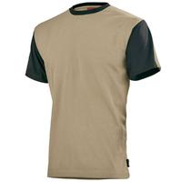 Tee-shirt home raglan beige / noir