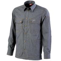 Chemise de travail doublée bleu indigo