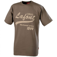 Tee-shirt manches courtes marron nikan