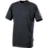 Tee-shirt manches courtes gris charbon tadi