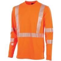 Tee-shirt haute visibilité orange hivi signal Adolphe Lafont