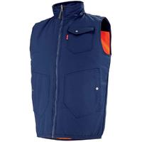 Body-warmer de travail Haute visibilité orange hivi et bleu