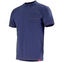 Tee-shirt bleu marine stock