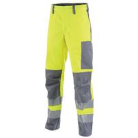 Pantalon de travail Hivi jaune fluo et gris acier mars