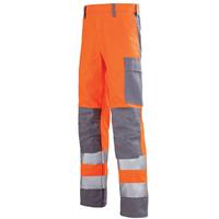 Pantalon de travail Hivi orange fluo et gris acier mars