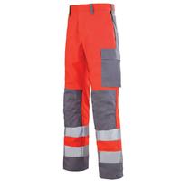 Pantalon de travail Hivi rouge et gris acier mars A. Lafont