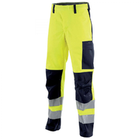 Pantalon de travail Protect Hivi jaune fluo et bleu marine Lafont