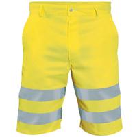Short de travail Haute visibilité jaune fluo hivi