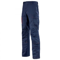 Pantalon de travail ergonomique multirisques bleu marine aetius