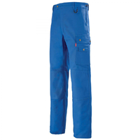 Pantalon Homme bleu de travail avec ceinture reglagble A. Lafont