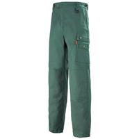Pantalon de travail Homme avec ceinture reglagble vert fonce