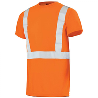 Tee-shirt haute visibilité orange hivi light A. Lafont