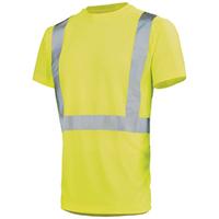 Tee-shirt de travail haute visibilité jaune hivi light