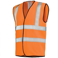 Gilet de travail Hivi orange fluo haute visibilité