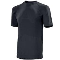 Tee-shirt sans coutures manches courtes noir tamerlan