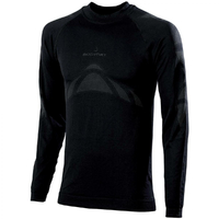 Tee-shirt sans coutures manches longues noir thermoactive
