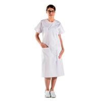 Blouse blanche d'infirmière à boutons pressions