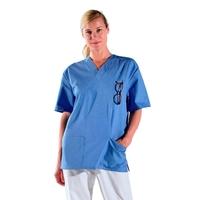 Casaque infirmière bleu clair