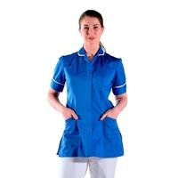 Tunique médicale bleu et blanche