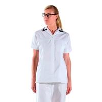 Tunique médicale - Para- médicale blanche avec col tailleur