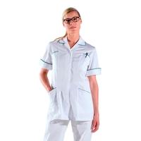Tunique médicale - para médicale blanche manches courtes