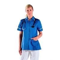 Tunique infirmière manches courtes bleue