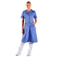 Blouse infirmière bleue longue manches courtes