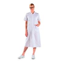 Blouse infirmière longue blanche manches courtes