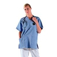 Tunique médicale bleu manches courtes