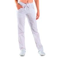 Pantalon Mixte Taille Elastique Blanc 100% Coton