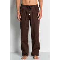 Pantalon médical marron, coupe unisexe stretch