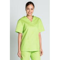 Tunique médicale vert pistache mixte col en V