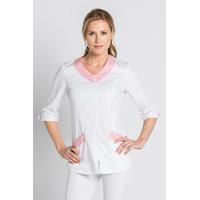 Tunique médicale / Esthétique Femme blanche et rose