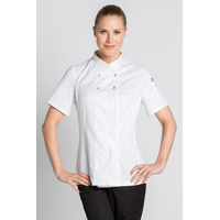 Veste cuisine blanche Lady Chef Look